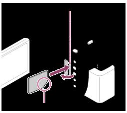 FDR-AXP55 메모리 카드 삽입 이미지