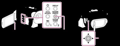 FDR-AX700 버튼 이미지