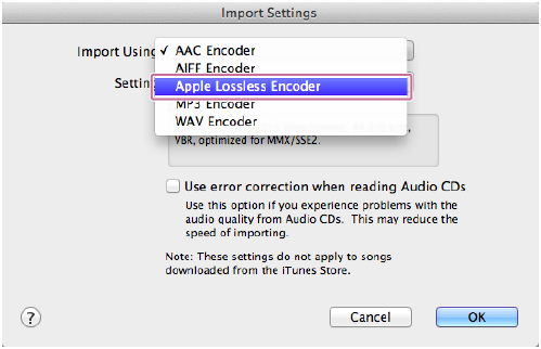 How to change audio import settings in itunes on mac & windows.