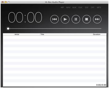 hi resolution audio player mac