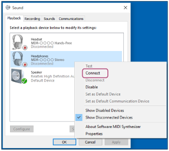 Help Guide | Connecting to a paired computer (Windows 10)
