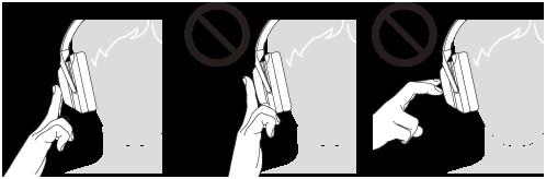 두 개의 손가락 마지막 마디 부분을 터치패널에 대고 있는 이미지