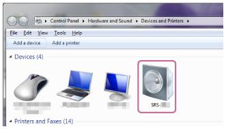 SRS-XB12 클릭 화면